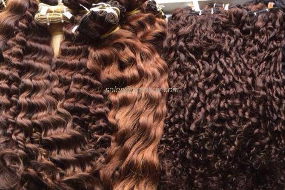 Machine weft curly hair (X1.3) - High quality Vietnam hair