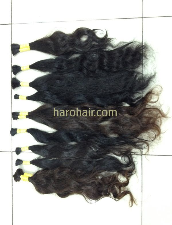 Virgin human natural wavy hair
