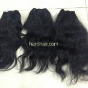 natural wavy weft hair