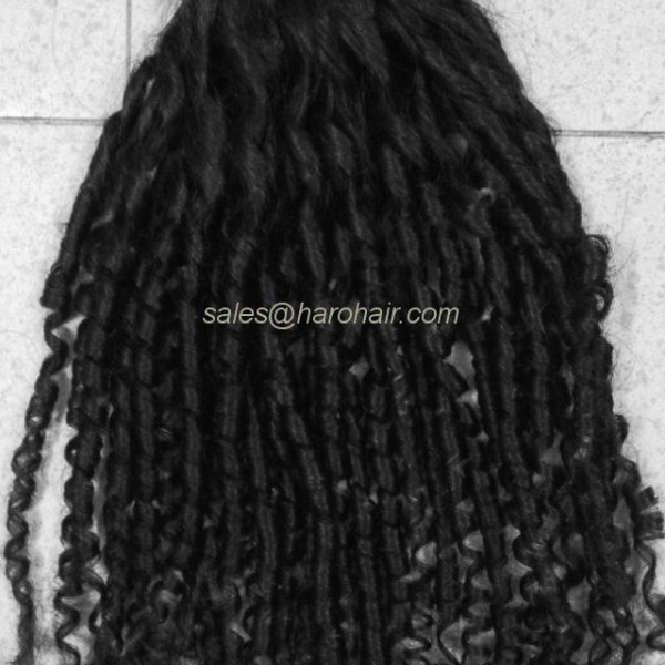 Machine weft curly hair (X1.2) - Real human hair