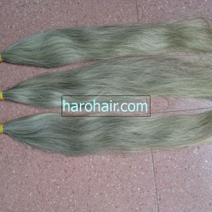 100 Virgin Human Grey Hair