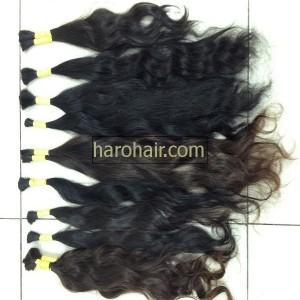 Virgin human natural wavy hair